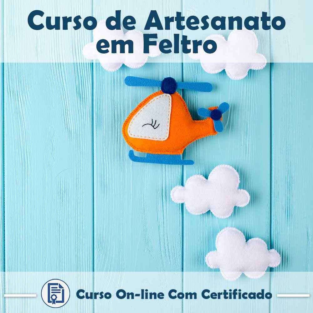 Curso online em videoaula de como fazer Artesanato em Feltro com Certificado
