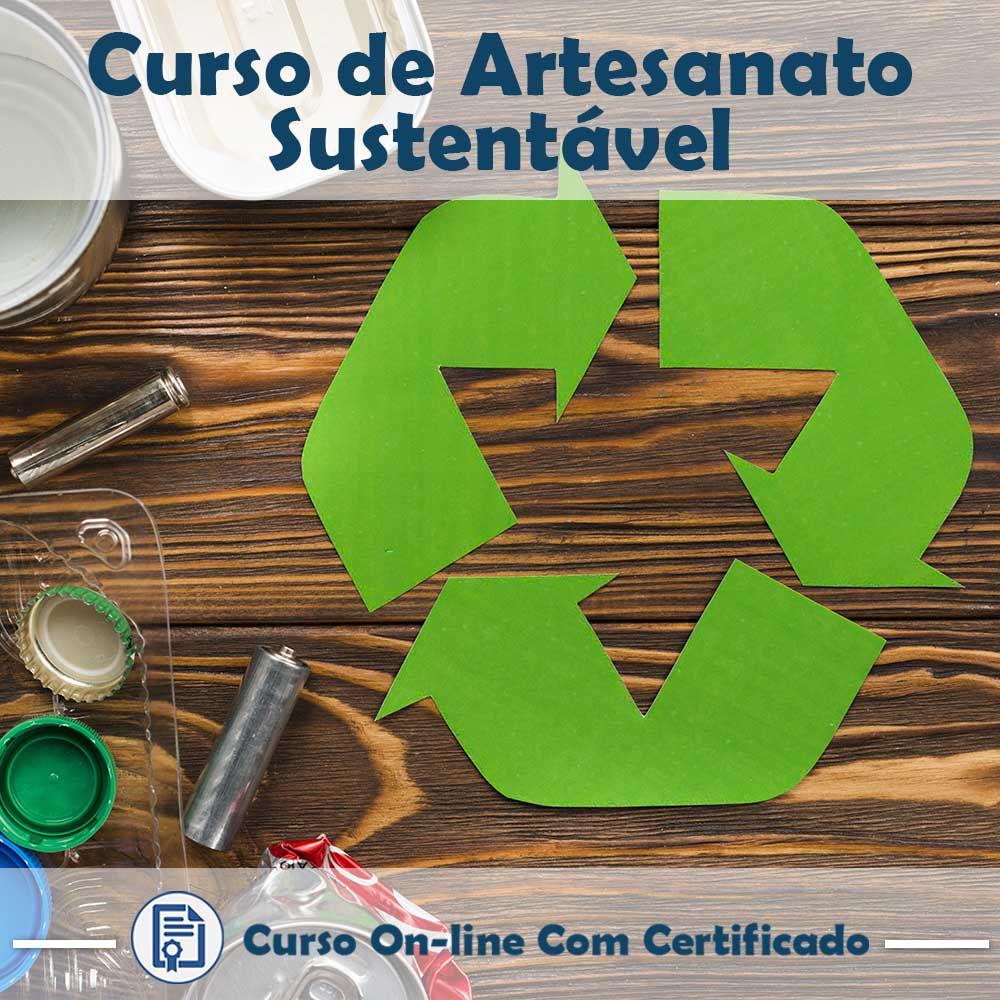 Curso online em videoaula de como fazer Artesanato Sustentável com Certificado  - Aprova Cursos