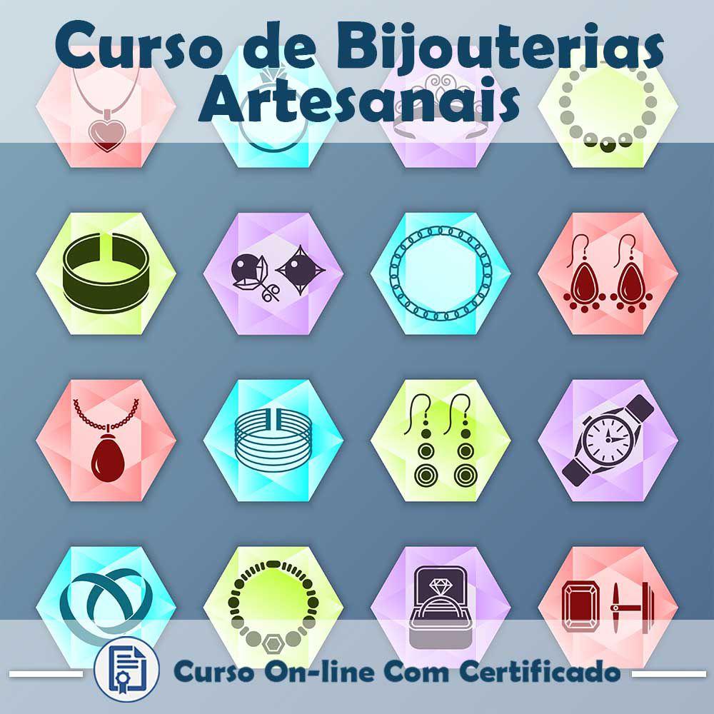 Curso online em videoaula de como fazer Bijouterias Artesanais com Certificado  - Aprova Cursos