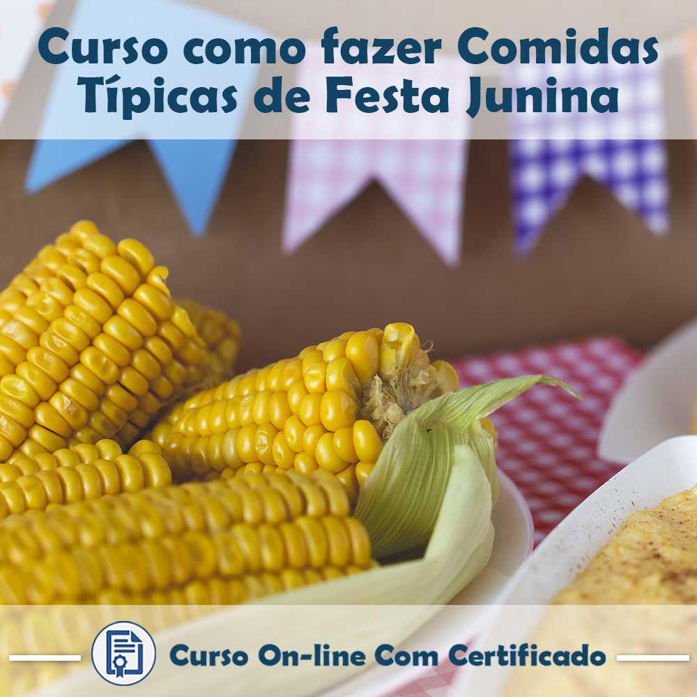 Curso online em videoaula de como fazer Comidas Típicas de Festa Junina com Certificado