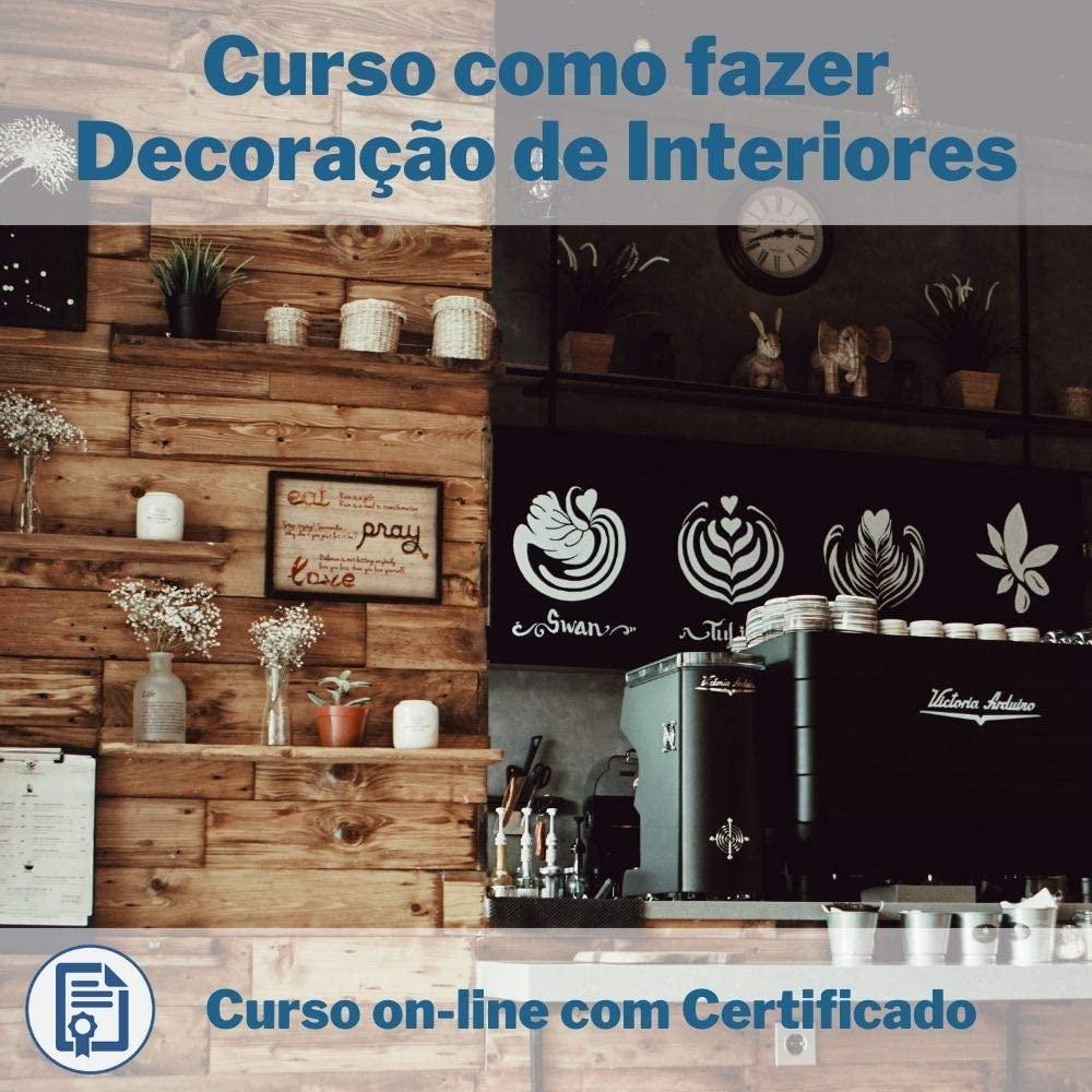 Curso Online em videoaula de como fazer Decoração de Interiores com Certificado