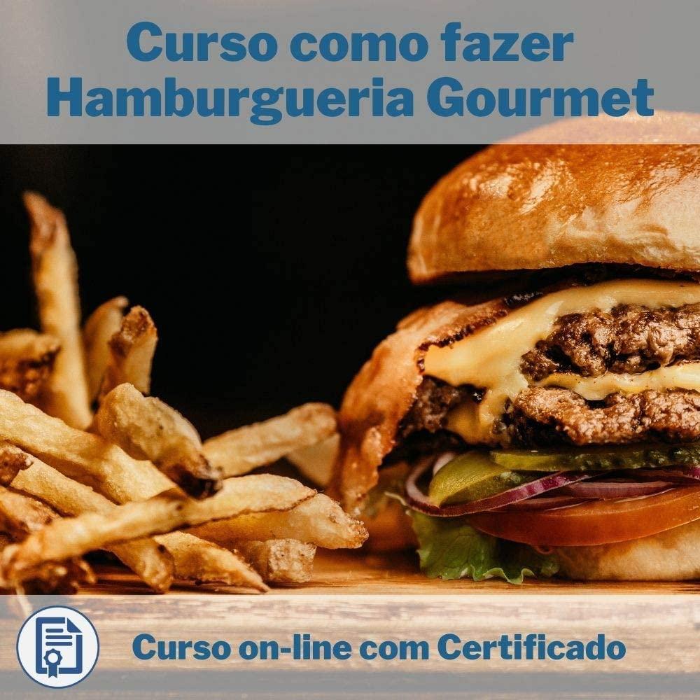 Curso Online em videoaula de como fazer Hamburgueria Gourmet com Certificado