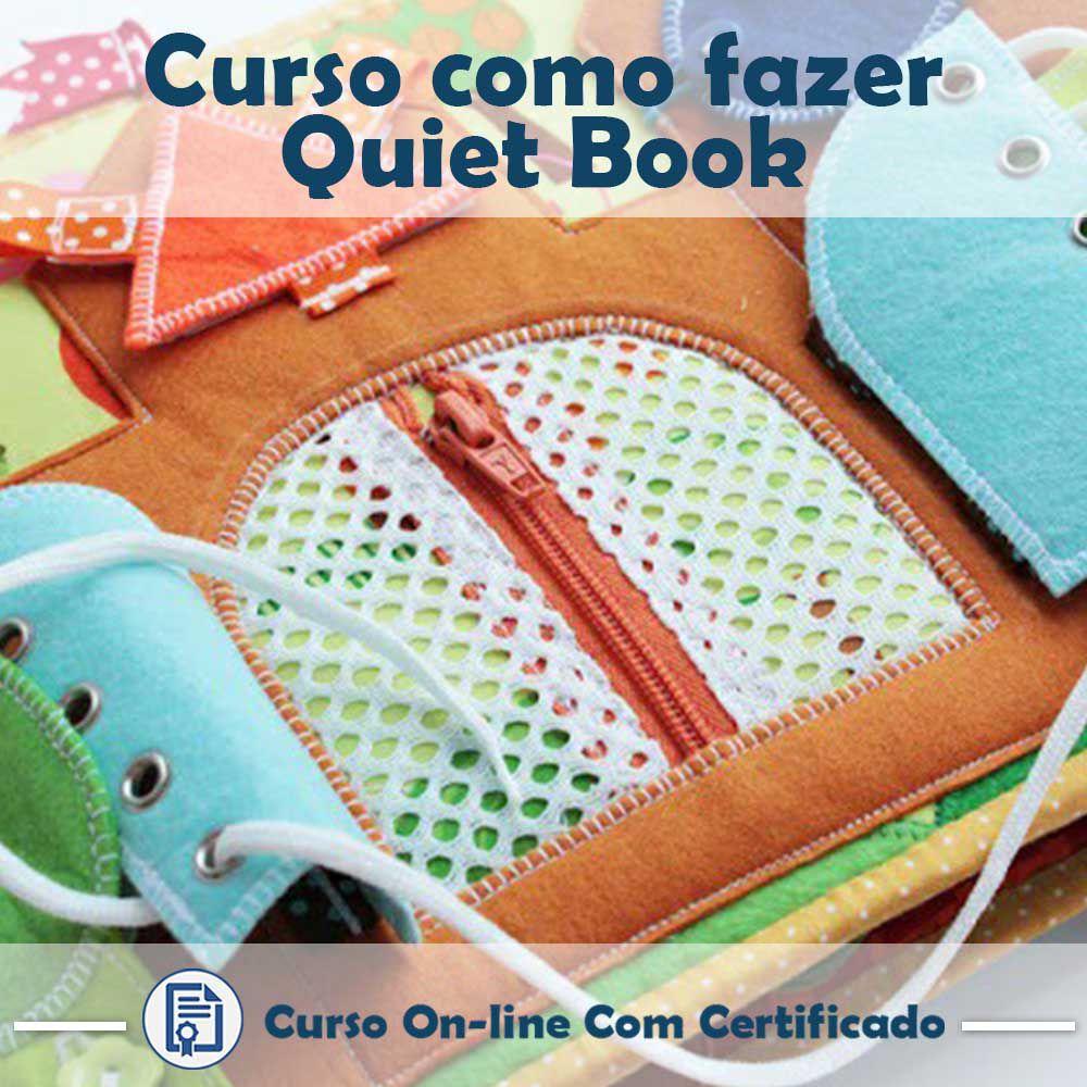 Curso online em videoaula de como fazer Quiet Book com Certificado  - Aprova Cursos