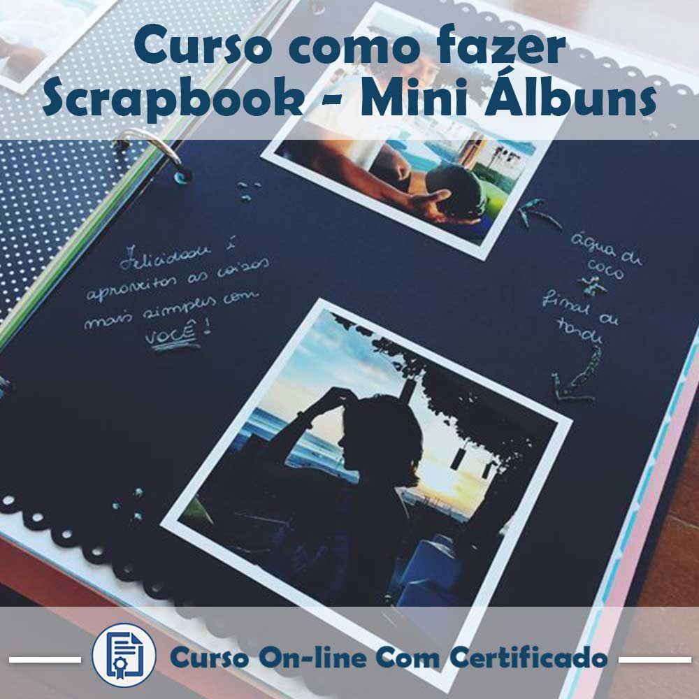 Curso online em videoaula de como fazer Scrapbook - Mini Álbuns com Certificado  - Aprova Cursos