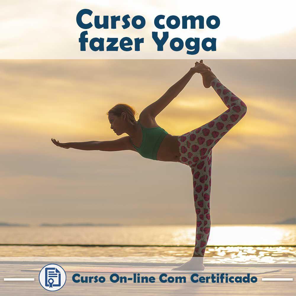 Curso online em videoaula de como fazer Yoga com Certificado