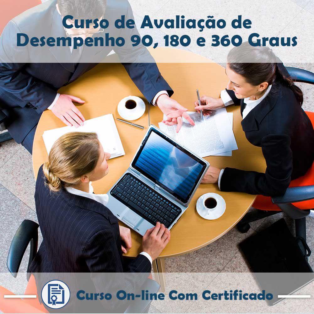 Curso online em videoaula de como funciona Avaliação de Desempenho: 90, 180 e 360 Graus com Certificado