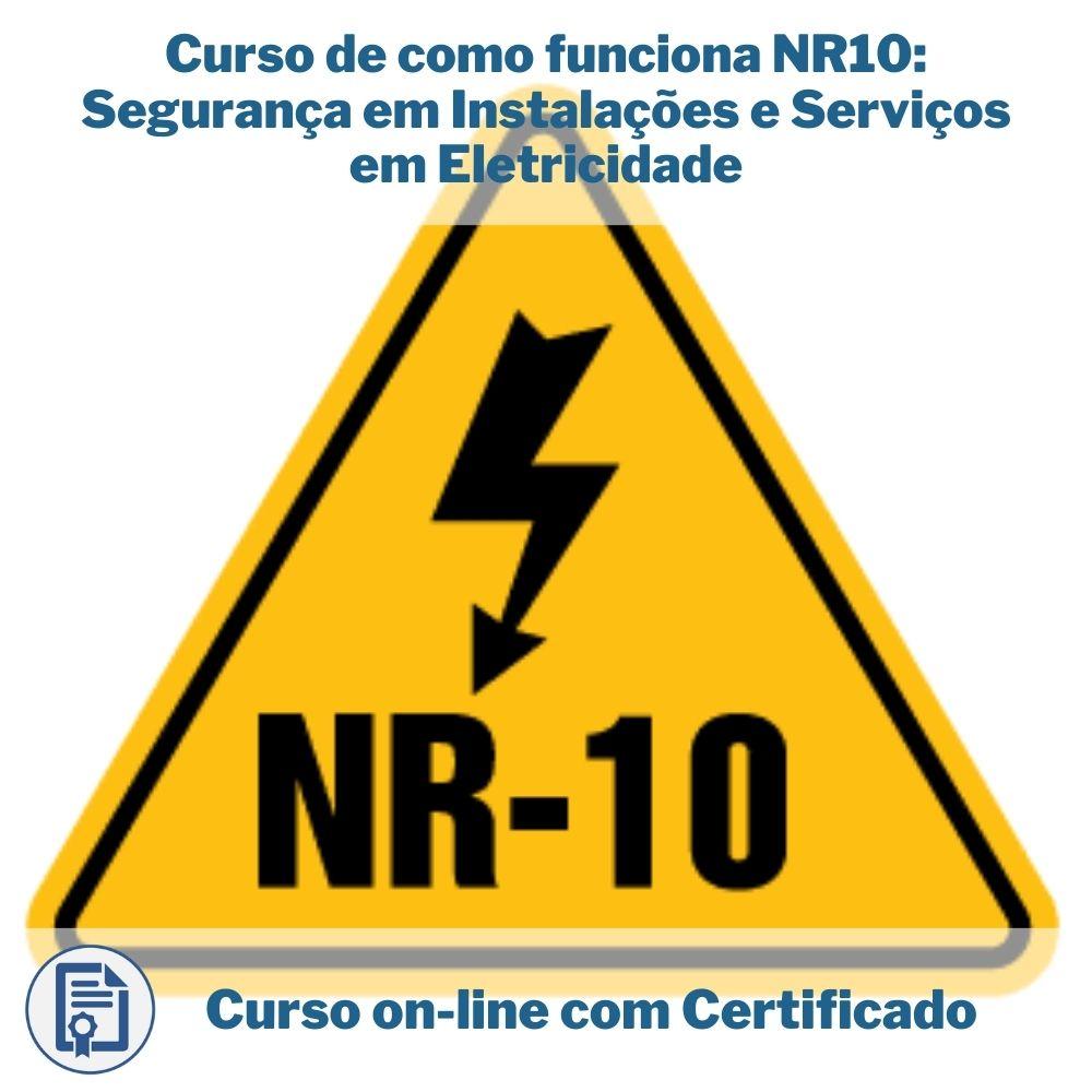Curso Online em Videoaula de como funciona NR10: Segurança em Instalações e Serviços em Eletricidade com Certificado