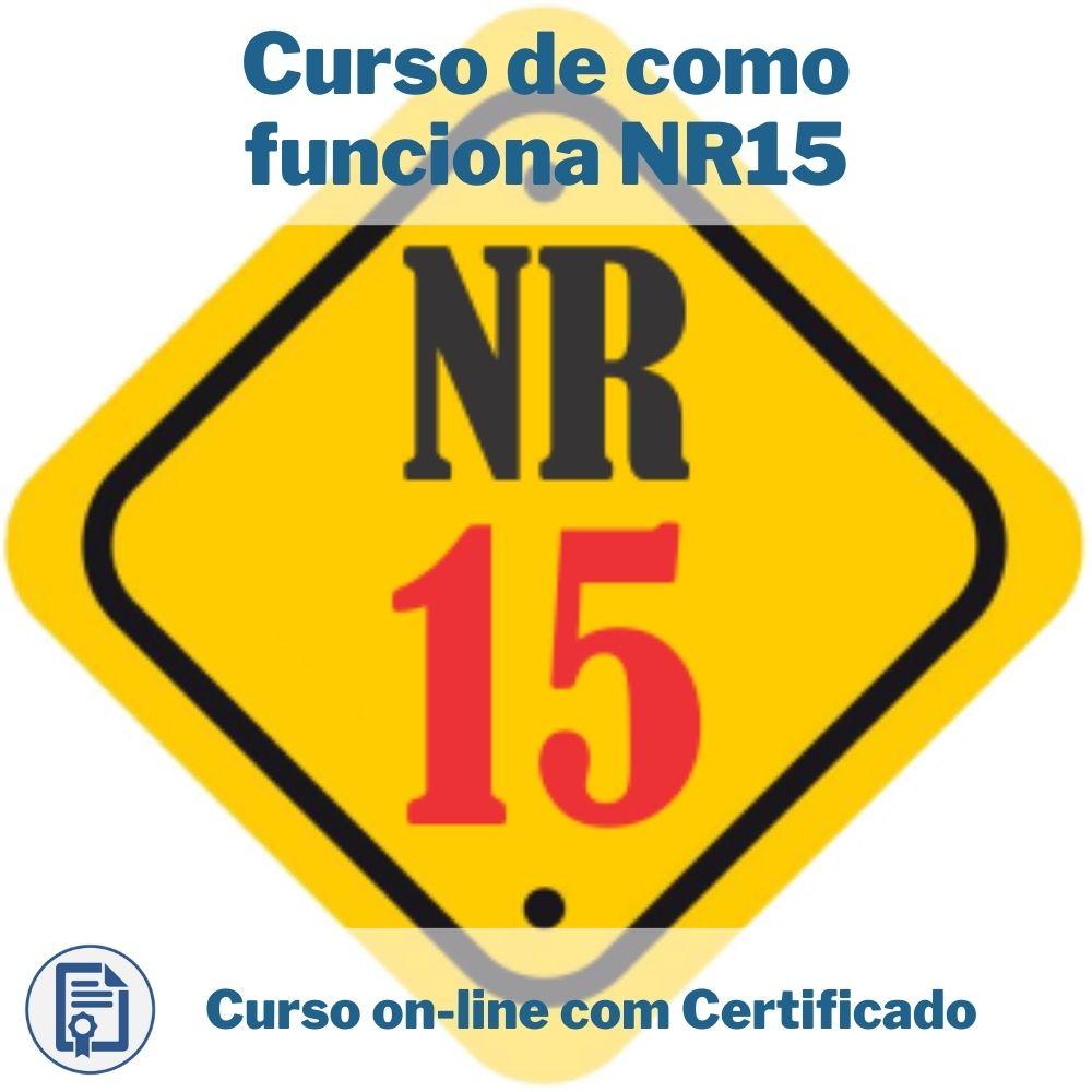 Curso Online em videoaula de como funciona NR15 com Certificado