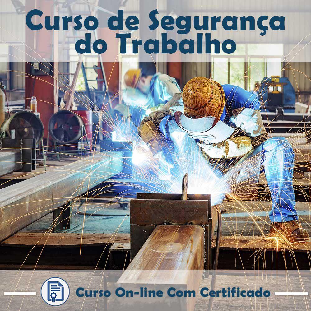 Curso online em videoaula de como funciona Segurança do Trabalho com Certificado