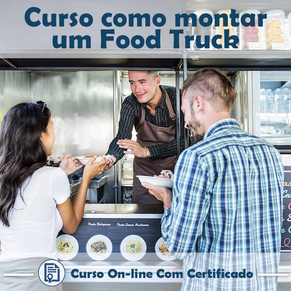 Curso online em videoaula de Como Montar um Food Truck com Certificado  - Aprova Cursos