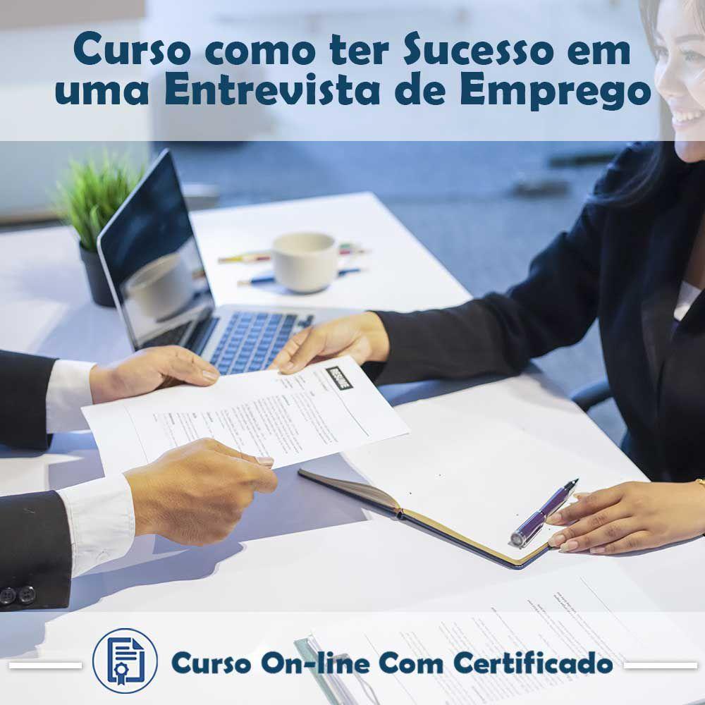 Curso online em videoaula de como ter Sucesso em uma Entrevista de Emprego com certificado  - Aprova Cursos
