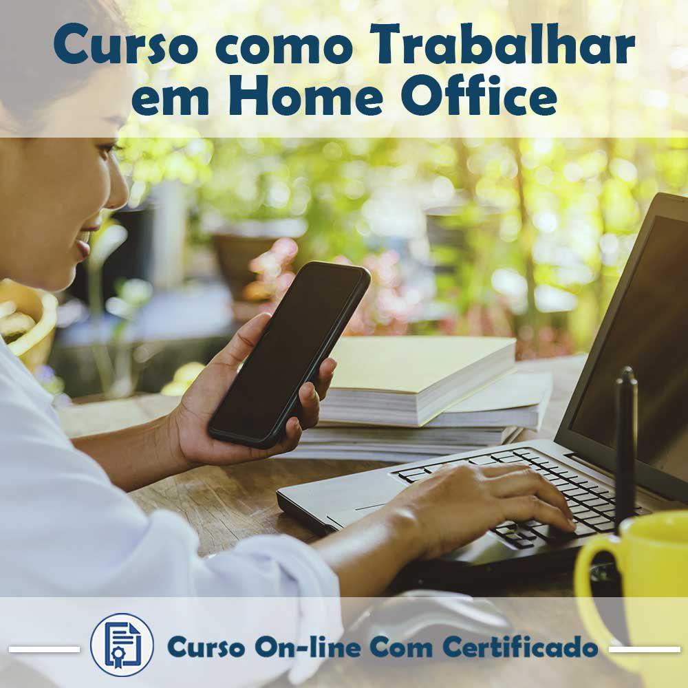 Curso online em videoaula de Como trabalhar em Home Office com certificado