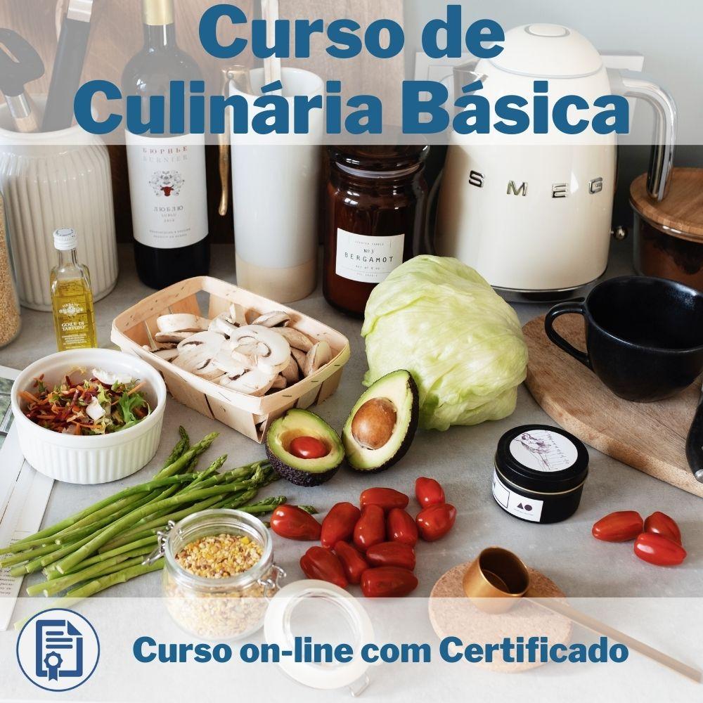 Curso Online em videoaula de Culinária Básica com Certificado