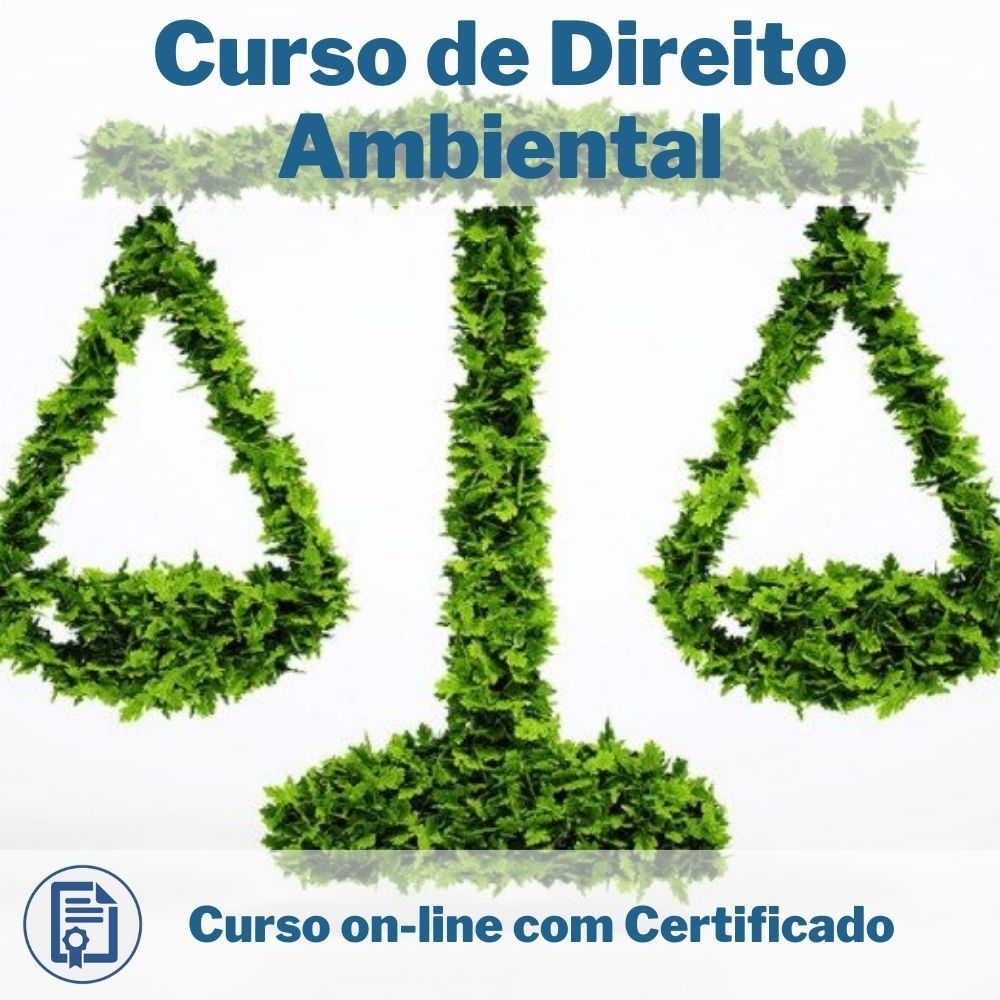 Curso Online em videoaula de Direito Ambiental com Certificado