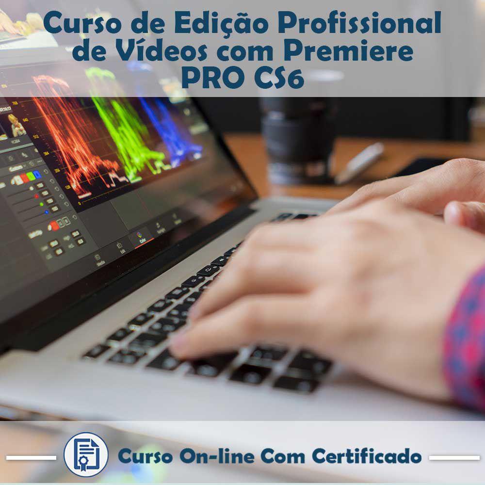 Curso online em videoaula de Edição Profissional de Vídeos com Premiere PRO CS6 com Certificado