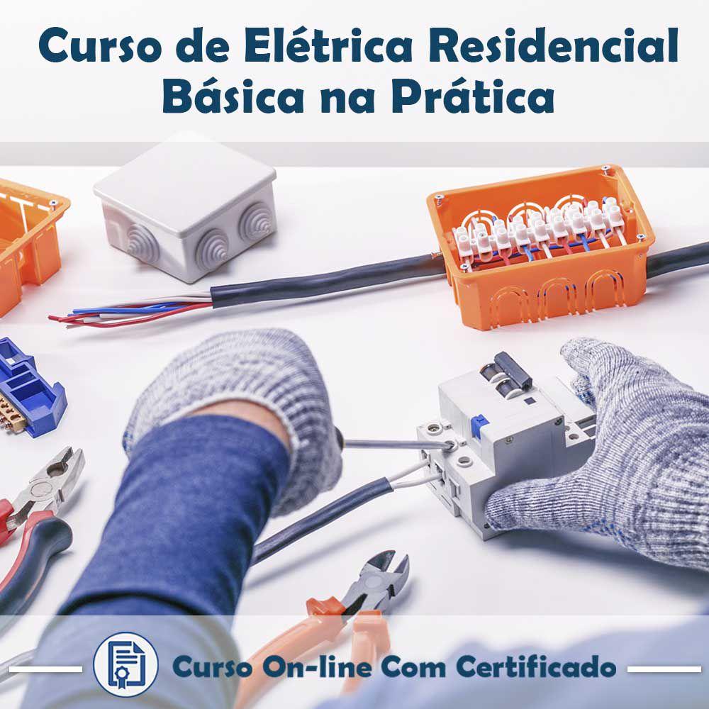 Curso online em videoaula de Elétrica Residencial Básica na Prática com Certificado  - Aprova Cursos