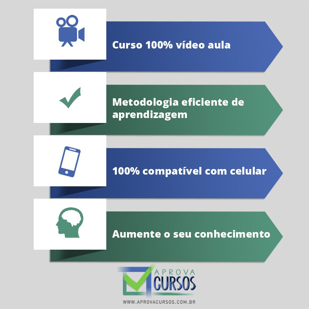 Curso online em videoaula de Espanhol com Certificado  - Aprova Cursos