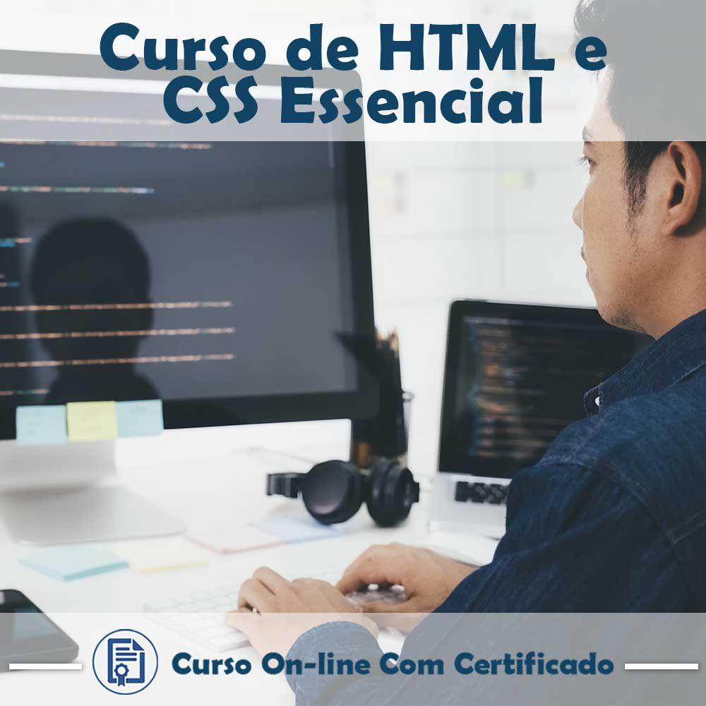Curso Online em videoaula de HTML e CSS Essencial com Certificado