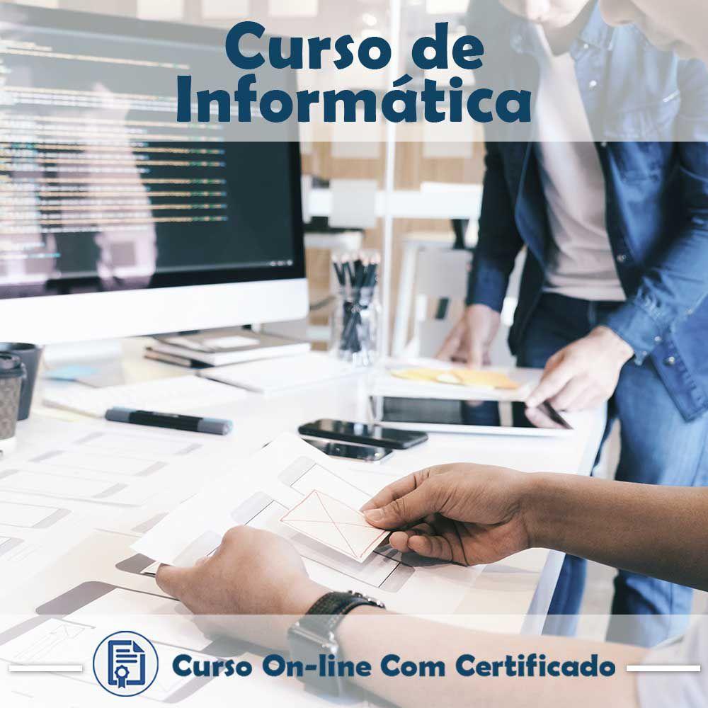 Curso Online em videoaula de Informática com Certificado  - Aprova Cursos