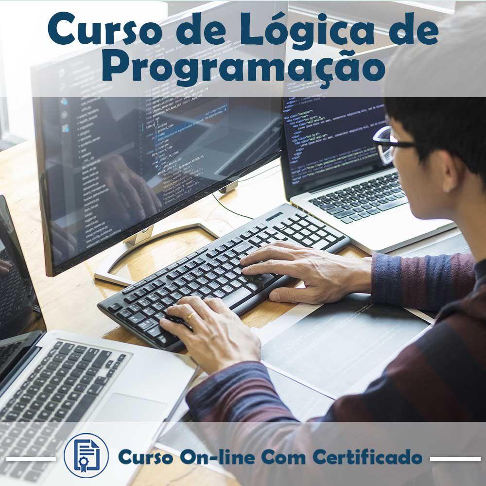 Curso Online em videoaula de Lógica de Programação com Certificado  - Aprova Cursos