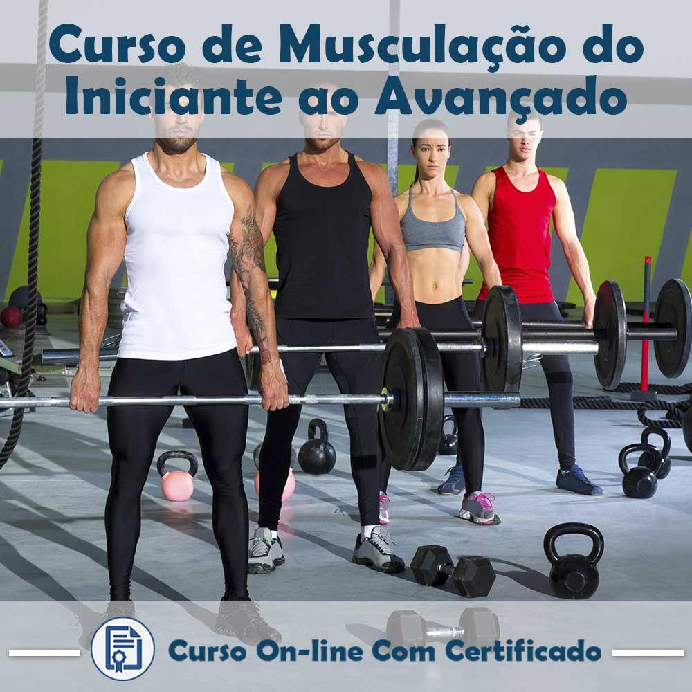 Curso online em videoaula de Musculação do Iniciante ao Avançado com Certificado  - Aprova Cursos