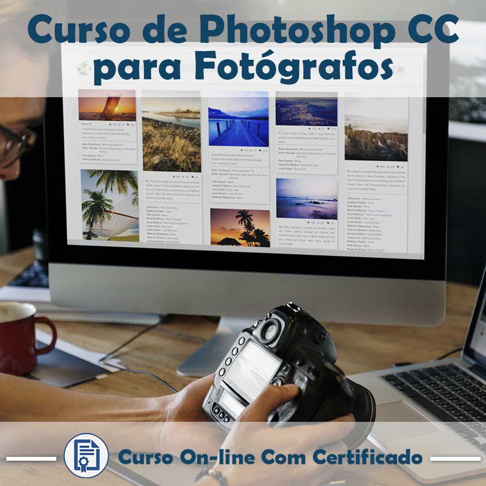 Curso Online em videoaula de Photoshop CC para Fotógrafos com Certificado