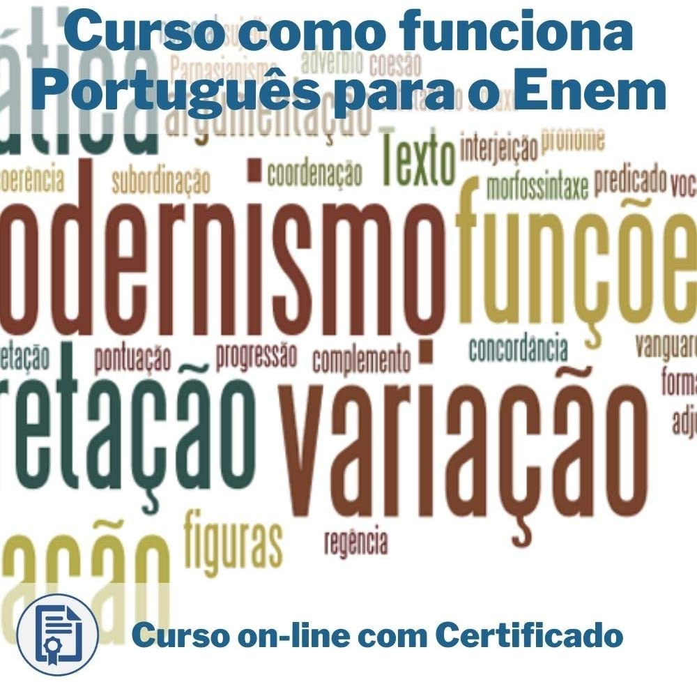 Curso Online em videoaula de Português - Enem com Certificado