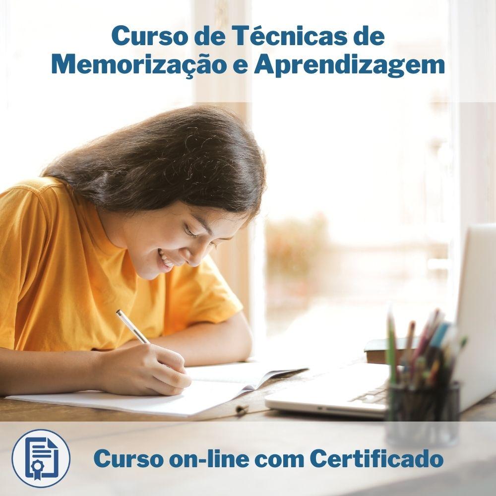 Curso Online em videoaula de Técnicas de Memorização e Aprendizagem com Certificado