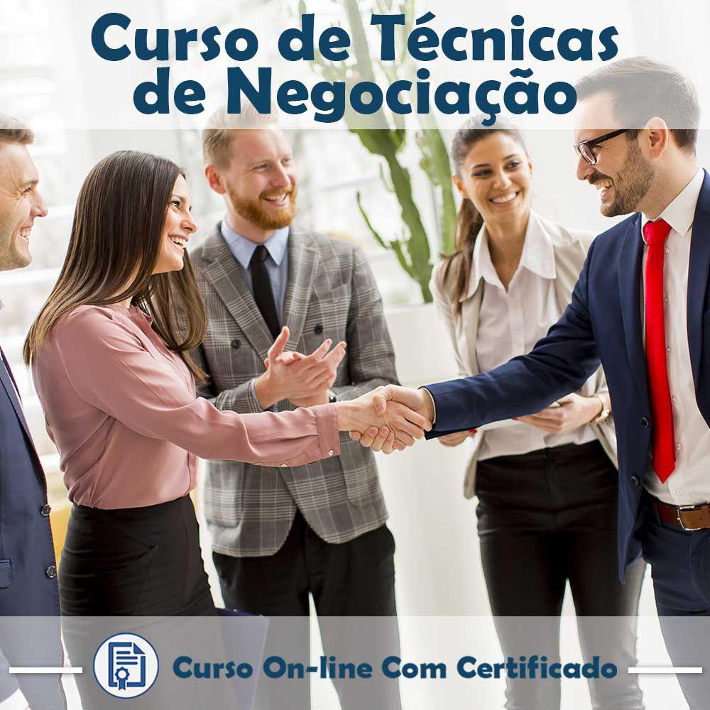 Curso online em videoaula de Técnicas de Negociação com Certificado