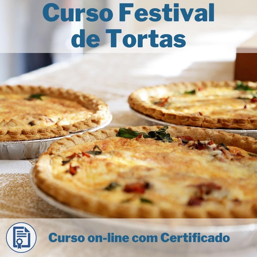 Curso Online em videoaula Festival de Tortas com Certificado