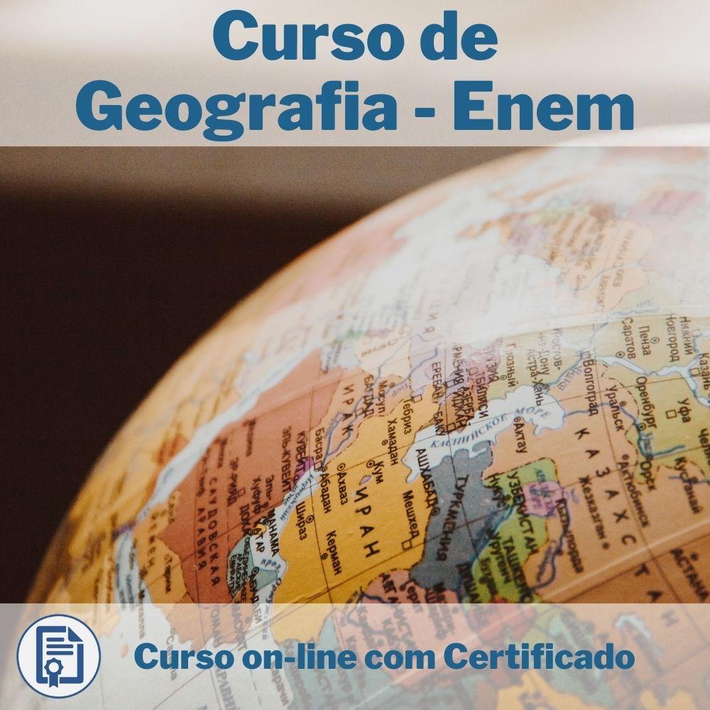 Curso Online em videoaula de Geografia - Enem com Certificado