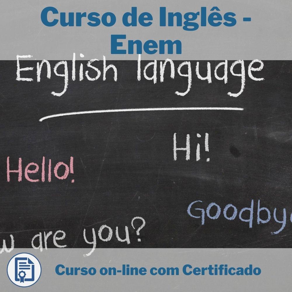 Curso Online em videoaula de Inglês - Enem com Certificado   - Aprova Cursos