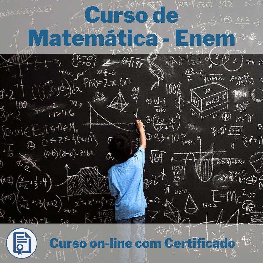 Curso Online em videoaula de Matemática - Enem com Certificado