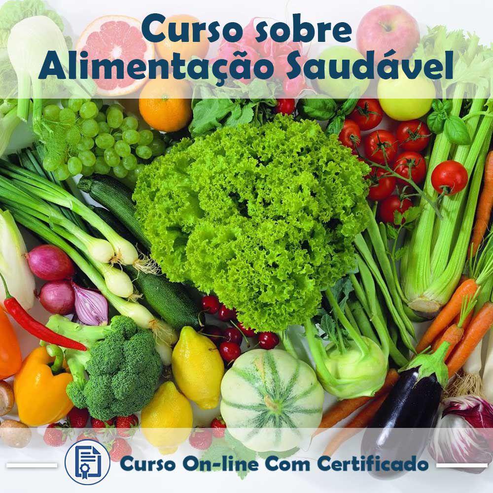 Curso online em videoaula sobre Comida Saudável com Certificado  - Aprova Cursos
