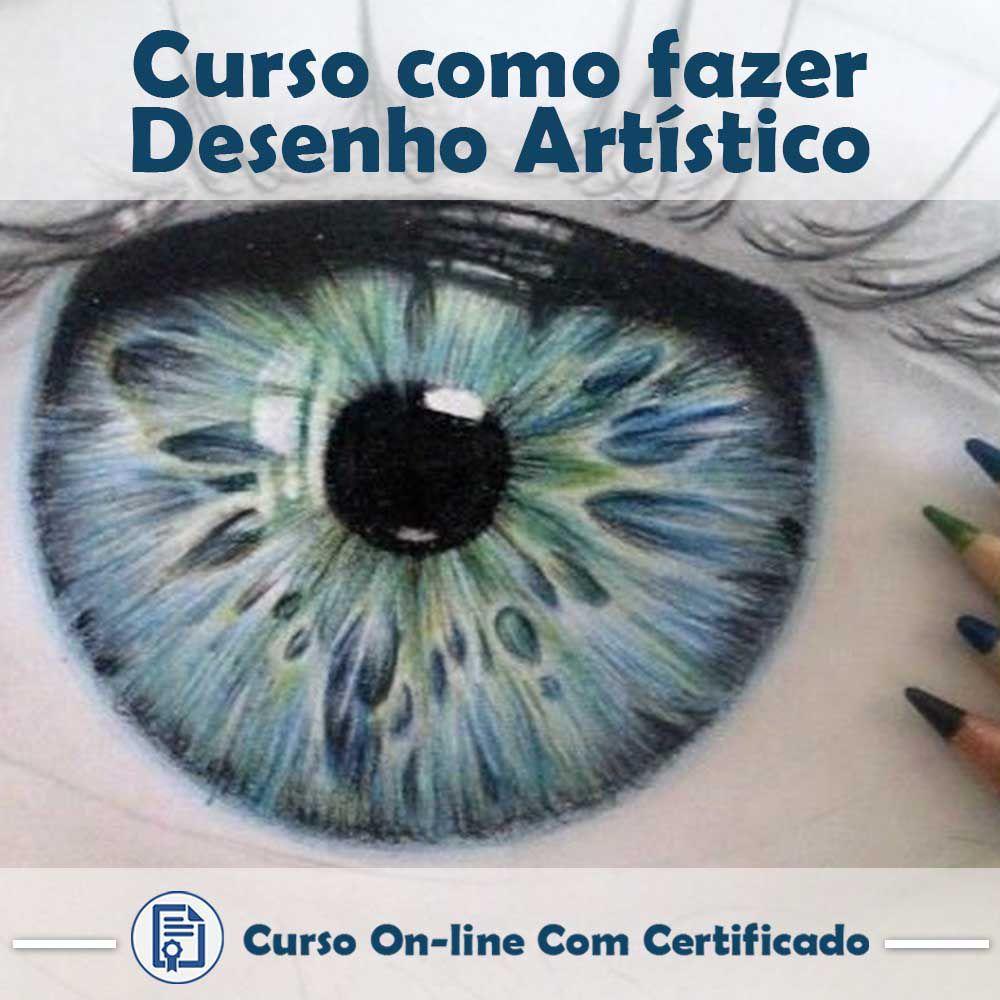 Curso online em videoaula de como fazer Desenho artístico com Certificado  - Aprova Cursos