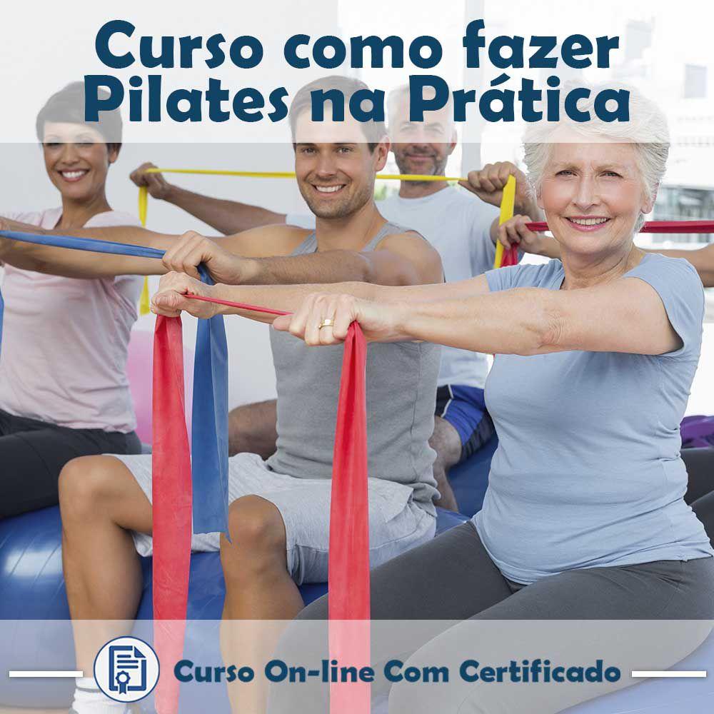 Curso online em videoaula sobre como fazer Pilates na Prática com certificado
