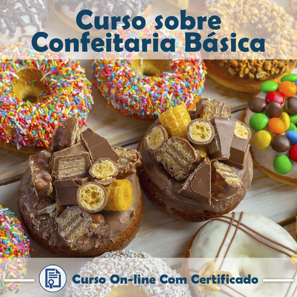 Curso online em videoaula sobre Confeitaria Básica com Certificado