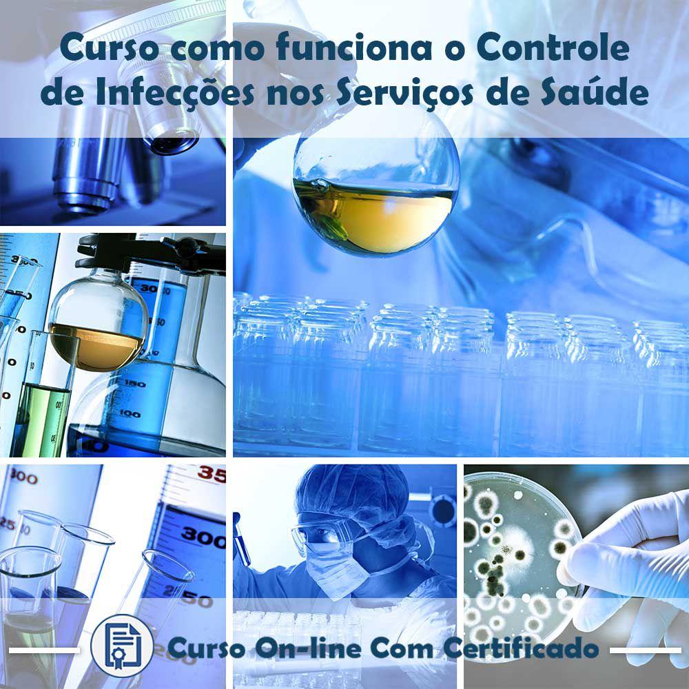 Curso online em videoaula sobre Controle de Infecções nos Serviços de Saúde com Certificado  - Aprova Cursos