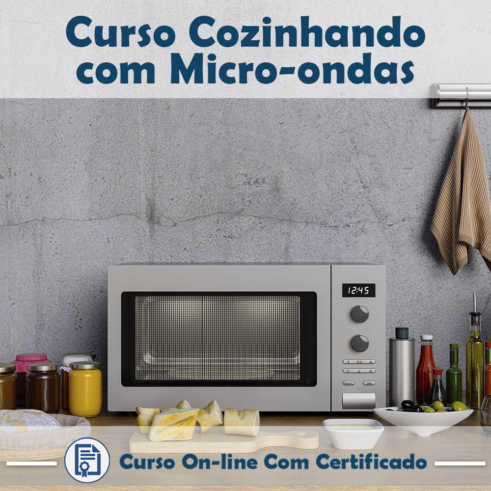 Curso online em videoaula sobre Cozinhando com Micro-ondas com Certificado  - Aprova Cursos
