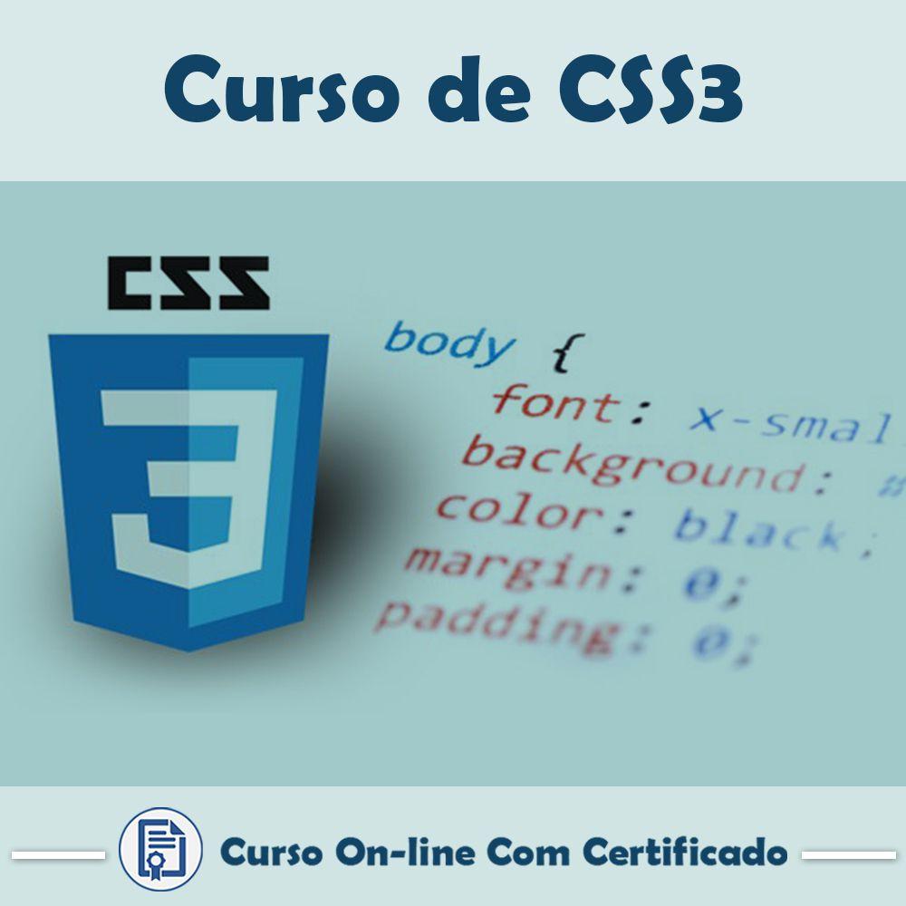 Curso online em videoaula sobre CSS 3 com Certificado