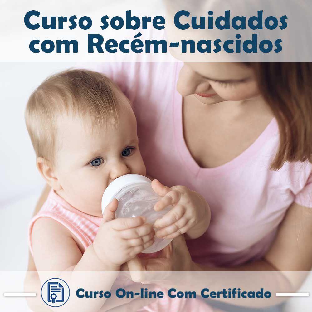 Curso online em videoaula sobre Cuidados com Recém-Nascidos com Certificado  - Aprova Cursos