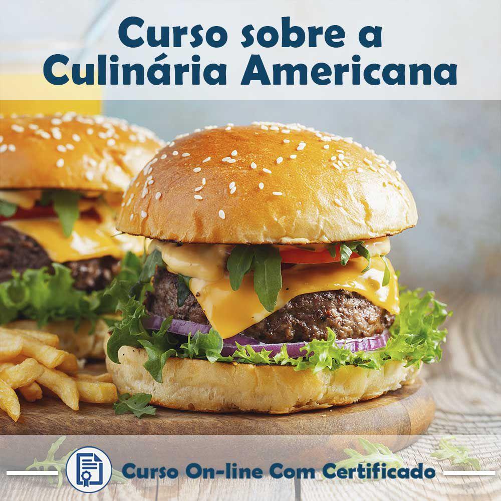Curso online em videoaula sobre Culinária Americana com Certificado