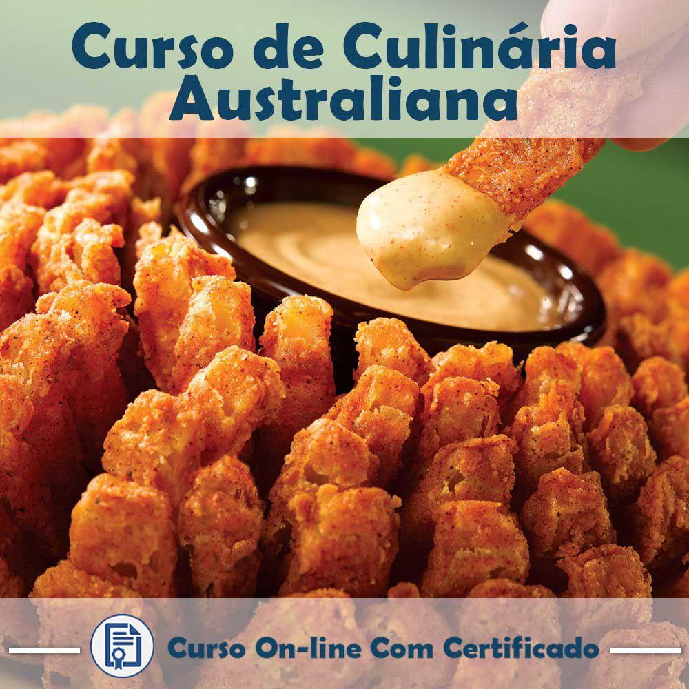 Curso online em videoaula sobre Culinária Australiana com Certificado