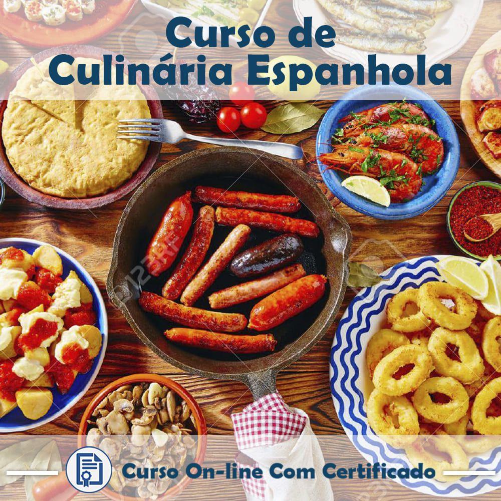 Curso online em videoaula sobre Culinária Espanhola com Certificado