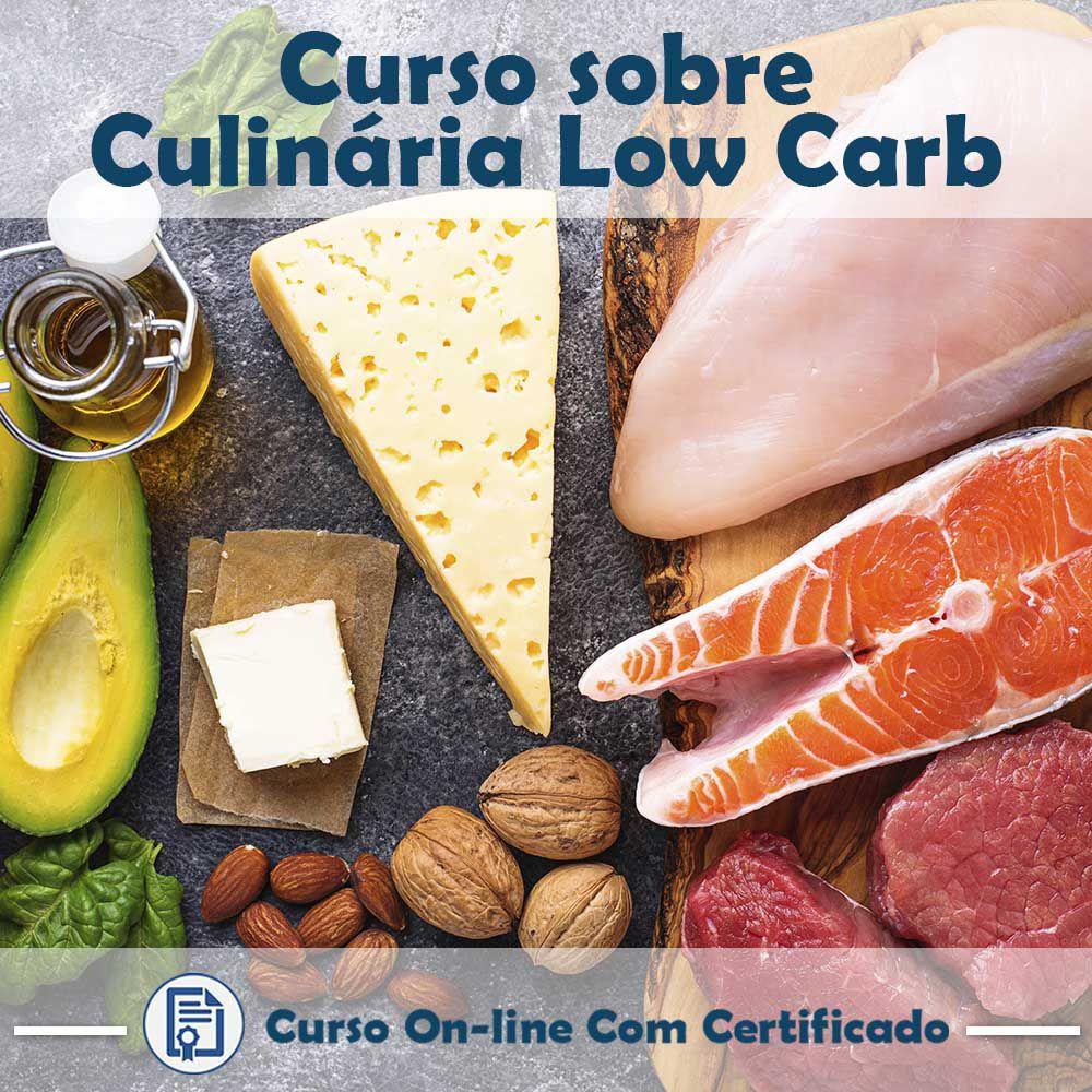 Curso online em videoaula sobre Culinária Low Carb com Certificado