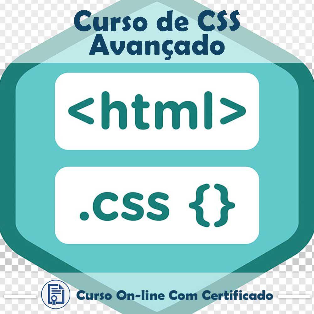 Curso online em videoaula sobre de CSS Avançado com Certificado