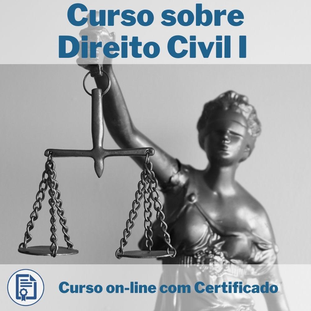 Curso Online em videoaula sobre Direito Civil I com Certificado