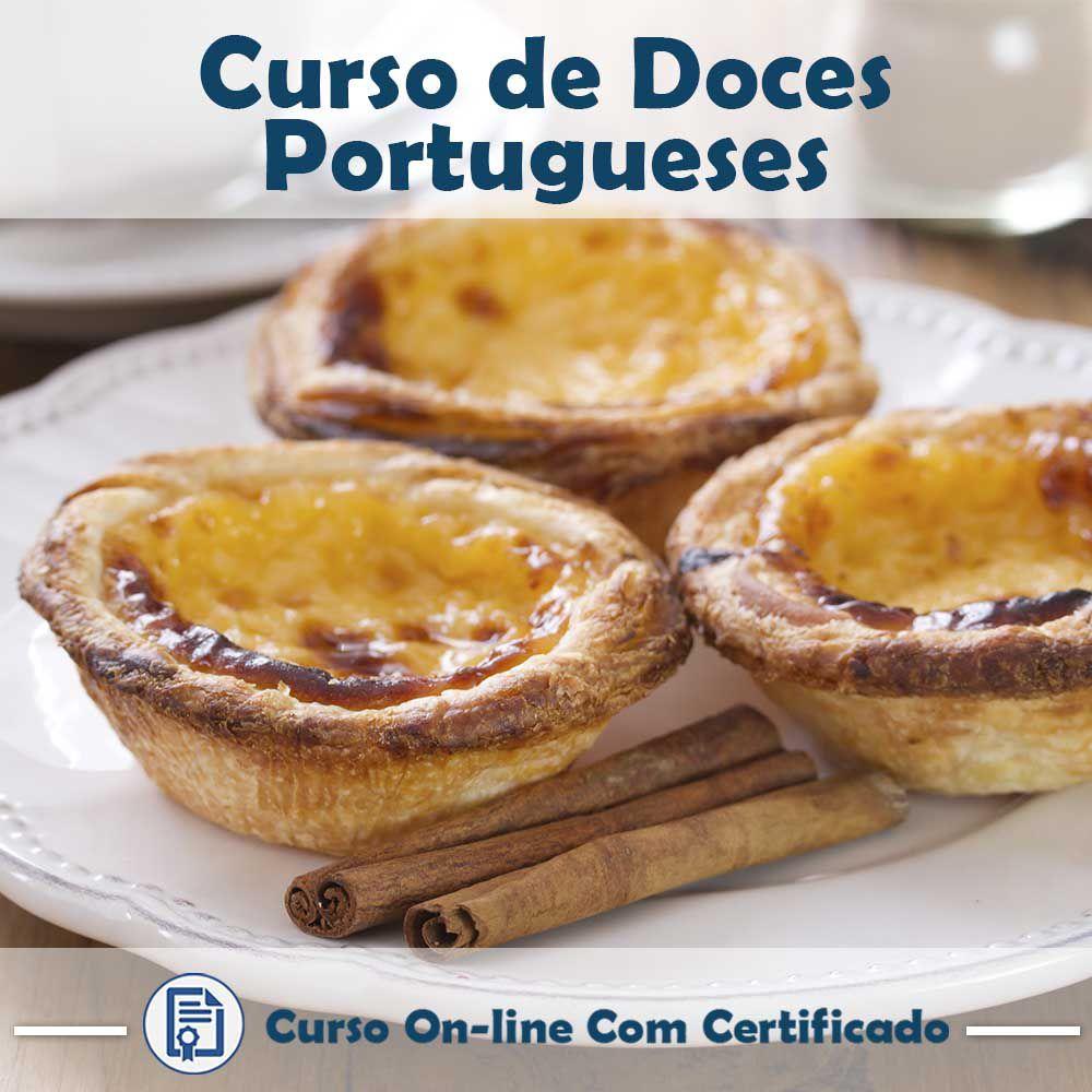 Curso online em videoaula sobre Doces Portugueses com Certificado