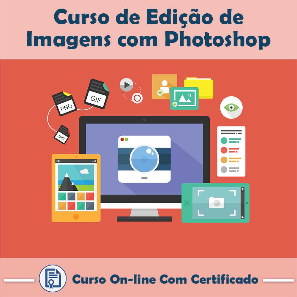 Curso online em videoaula sobre Edição de Imagens com Photoshop com Certificado  - Aprova Cursos