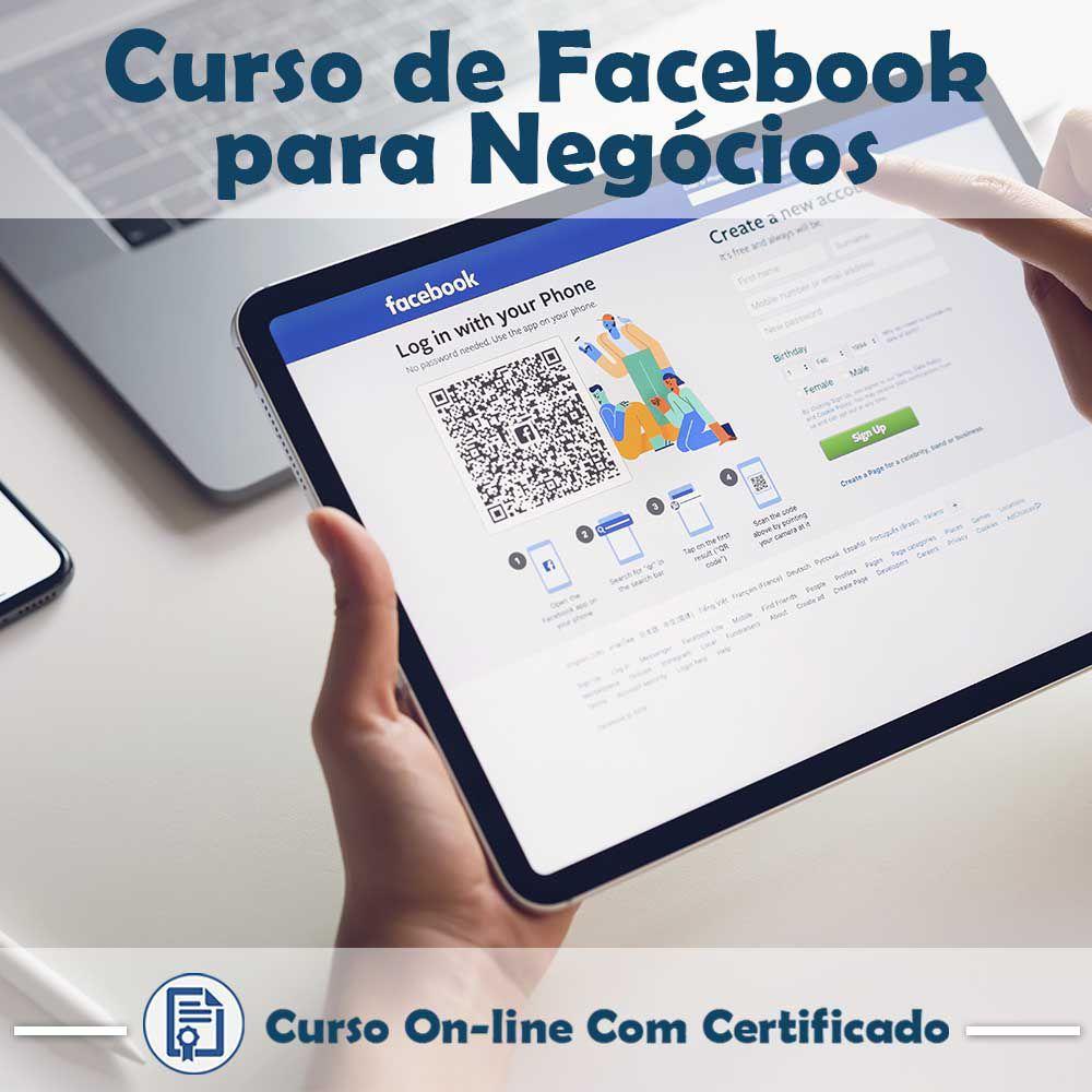 Curso online em videoaula sobre Facebook para Negócios com Certificado  - Aprova Cursos